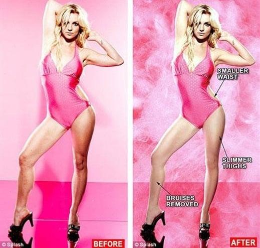 Britney Spears despues de airbrush