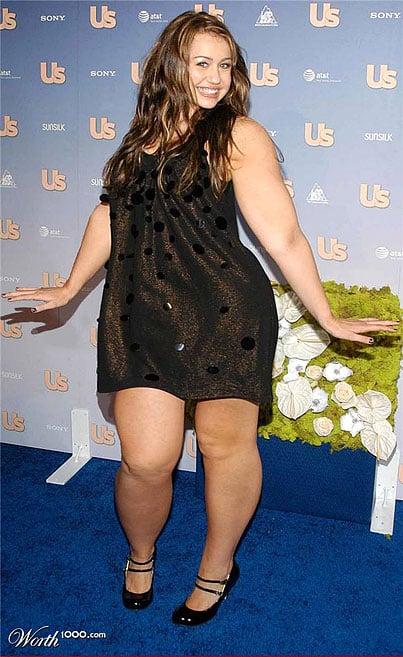 Miley Cyrus fat