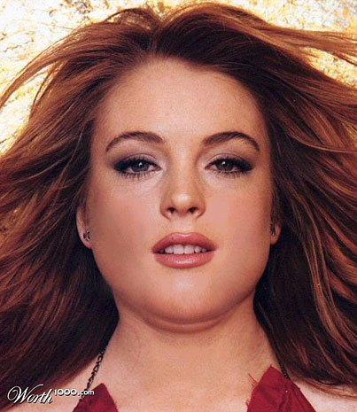 Lindsay Lohan fat
