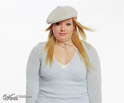 Hilary Duff fat