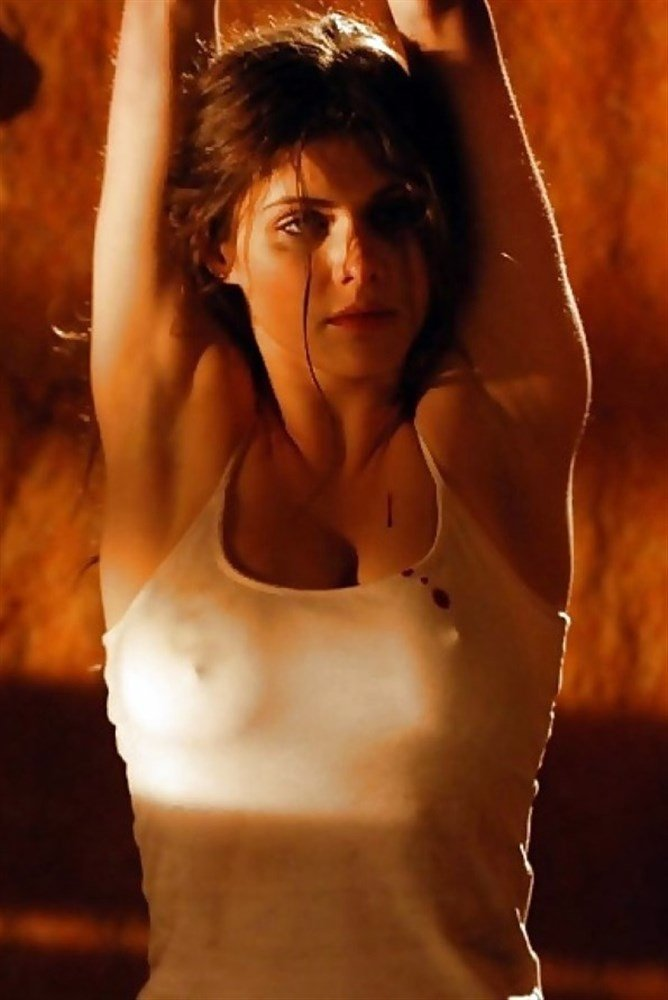 Alexandra Daddario's Hard Nipple Pokies