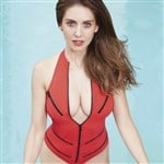 Alison Brie Flaunts Her Boobs In GQ