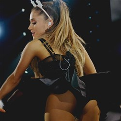 Ariana Grande Shows Her Down Under While Performing Down Under