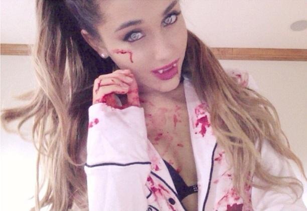 Ariana Grande & Hayden Panettiere Dress As Dead Sluts