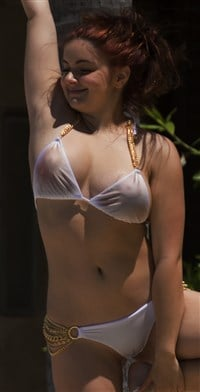 ariel winter nips lips and ass in see through bikini pics