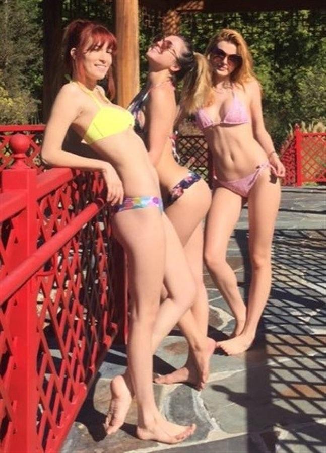 Bella Thorne With Her Sisters Dani And Kaili In Thong Bikinis