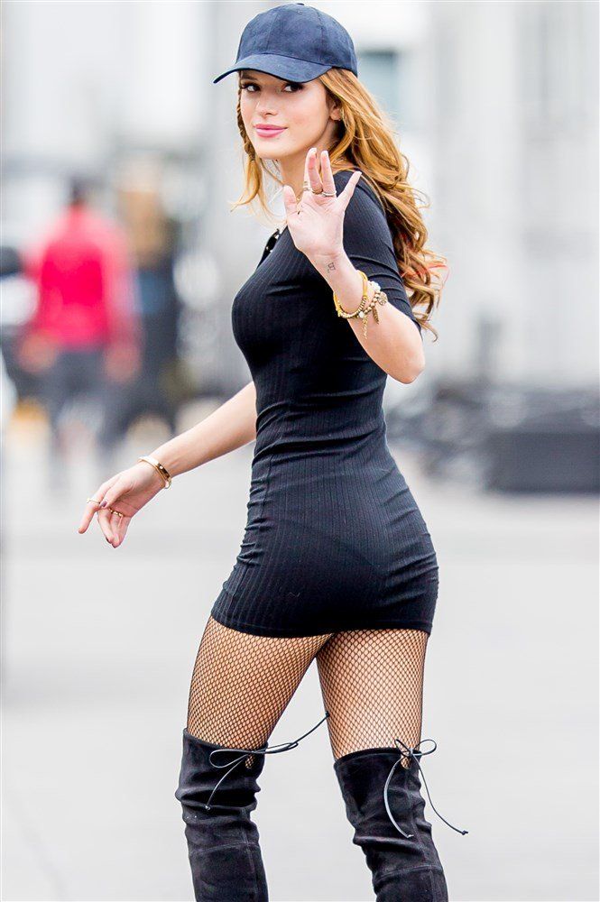 Bella Thorne Shows Off Her Puffy Teen Nips In A Tight See Thru Dress