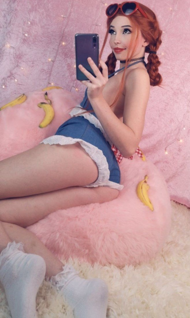 Belle Delphine Naked With A Banana