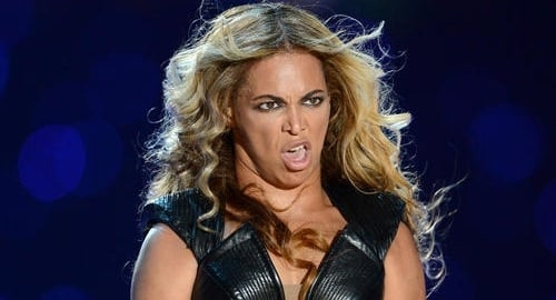 Beyonce ugly Super Bowl