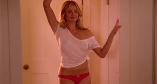 Cameron Diaz In A See Through Shirt In Sex Tape Stills-1776