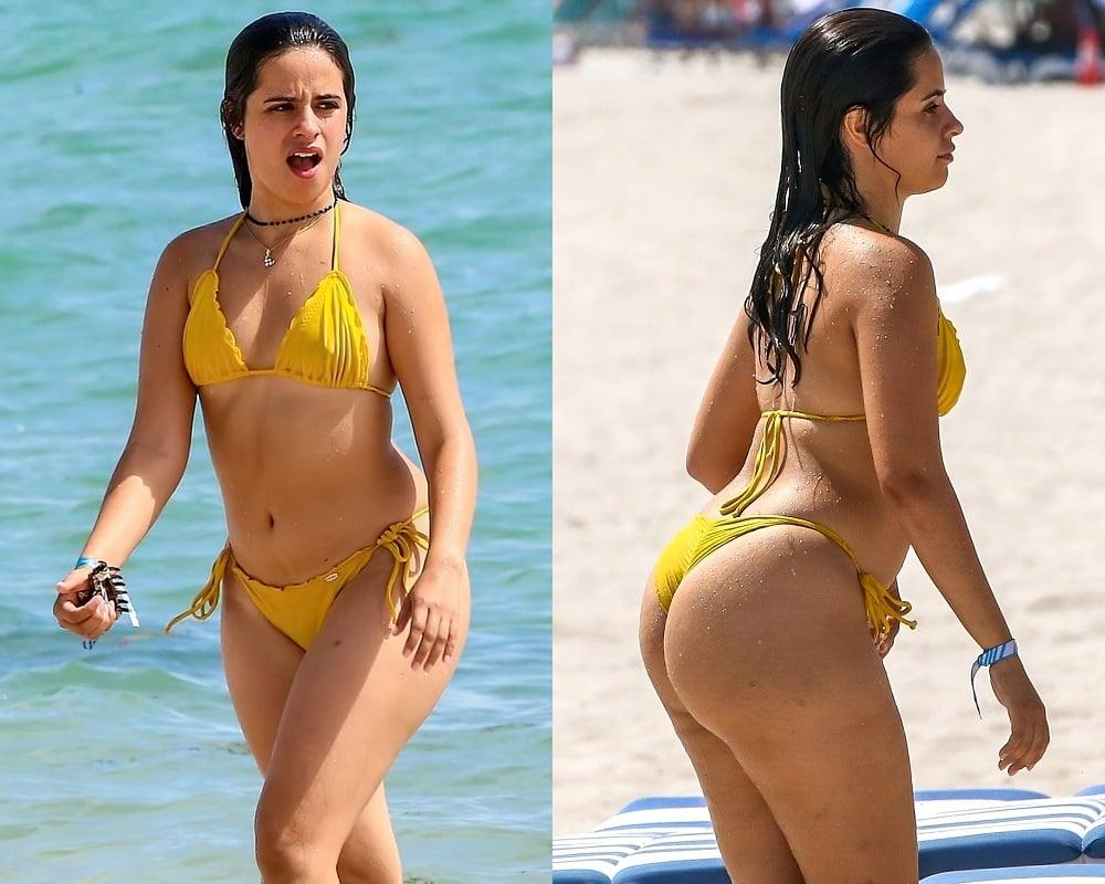 Camila Cabello Flaunts Her Fat Ass In A Thong Bikini