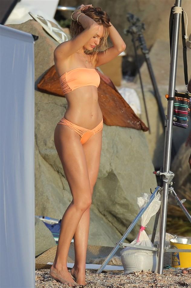 Behind The Scenes Of Candice Swanepoel's Thong Bikini Photo Shoot