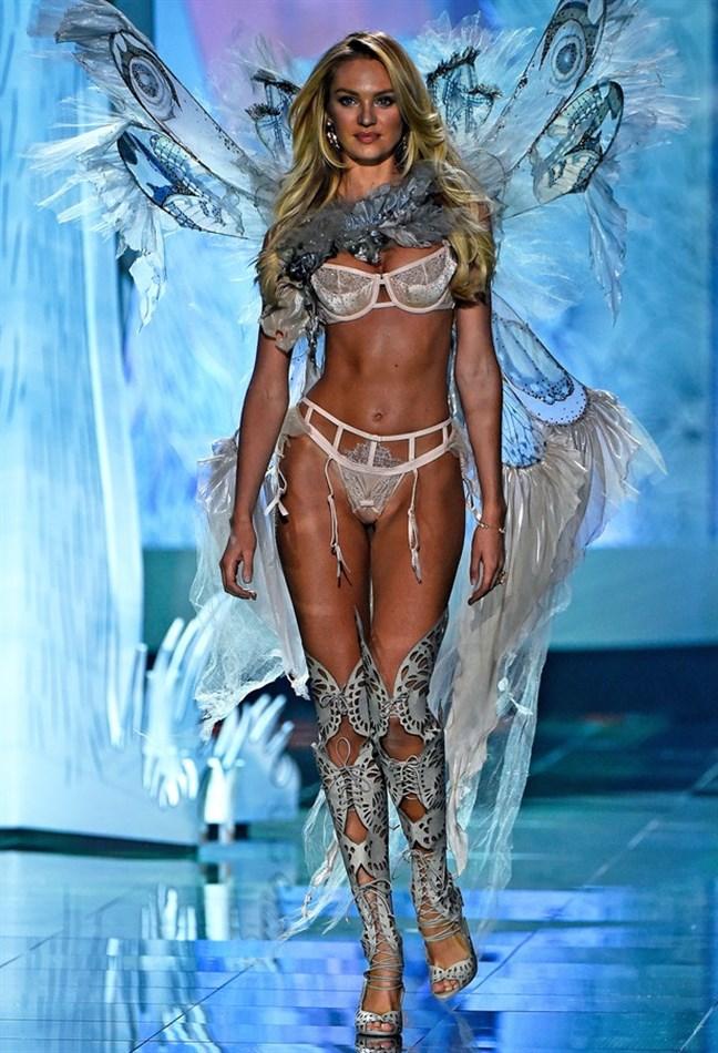 Candice Swanepoel At The 2014 Victoria's Secret Fashion Show