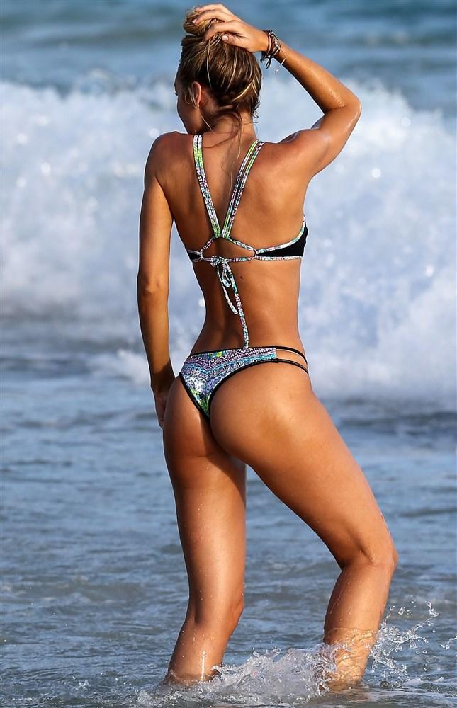 Candice Swanepoel Thong Bikini Candids