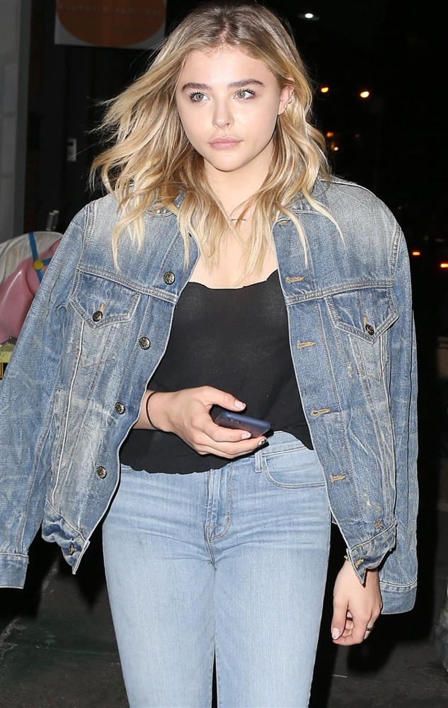 Chloe Grace Moretz Out With Her Nipple Piercings Glistening In The Moonlight