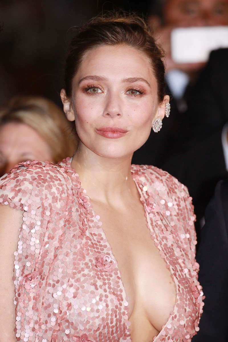 Elizabeth Olsen With Her Tits Out In Cannes