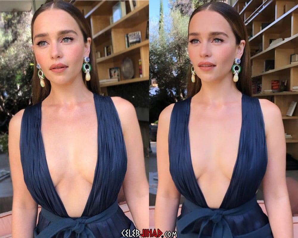 Emilia Clarke Emmy boobs