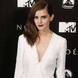 Emma Watson Wears Low Cut Top To Noah Premiere