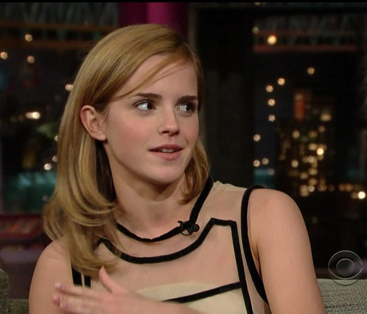 Emma Watson Upskirt On Letterman | Jihad Celebs