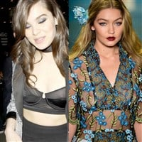 Hailee Steinfeld And Gigi Hadid Show Their Nipples In See Thru Tops