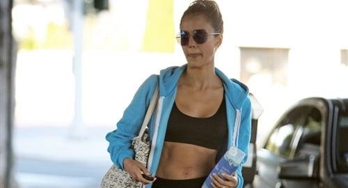 Jessica Alba sports bra