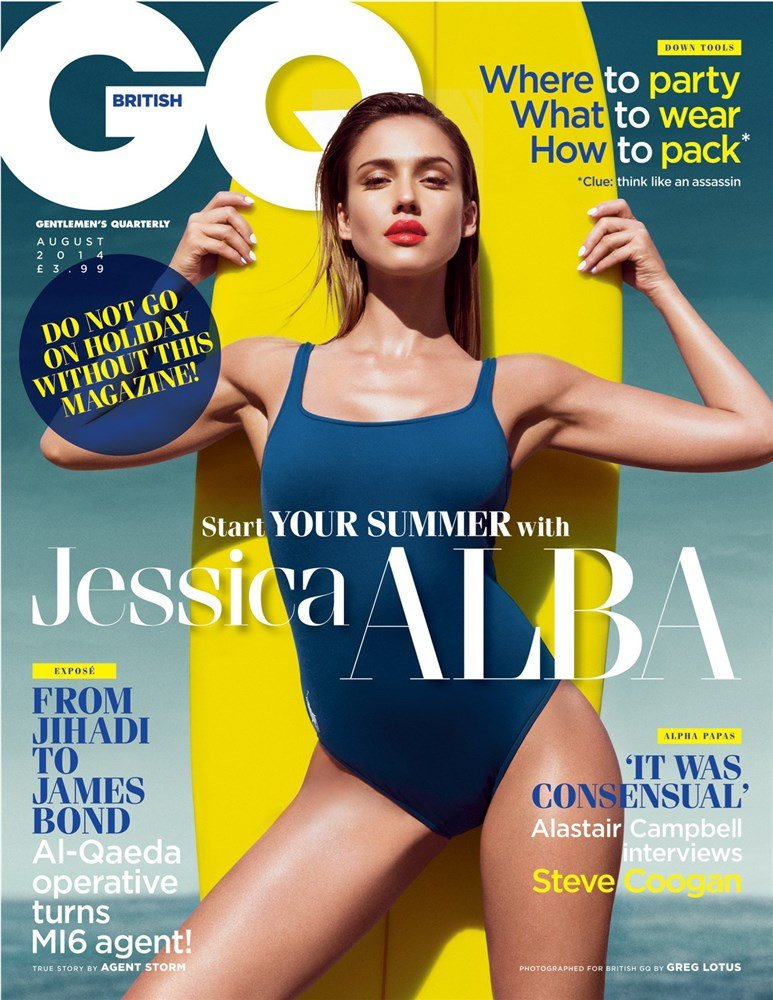 The Complete Jessica Alba Swimsuit Photo Shoot For GQ