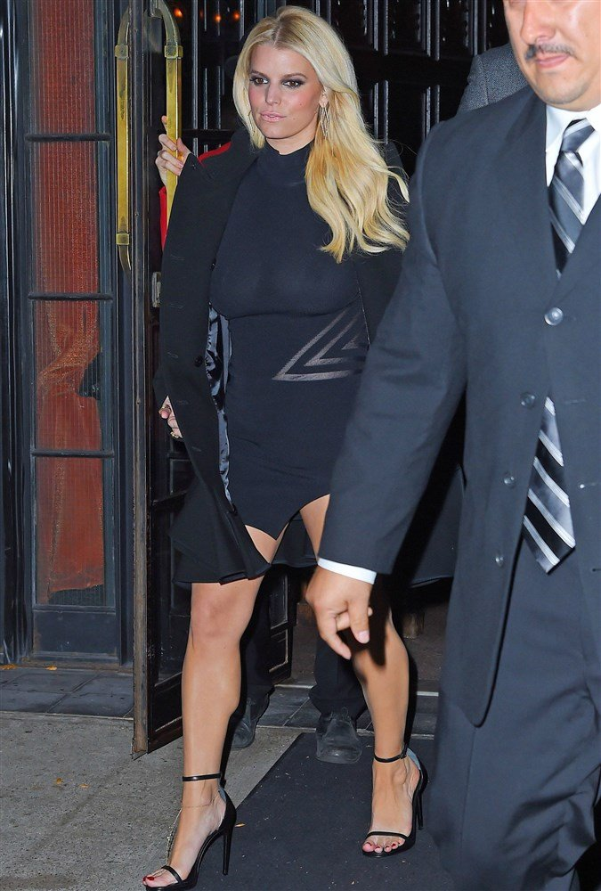 Jessica Simpson And Kylie Jenner See Through Boobs And Booty
