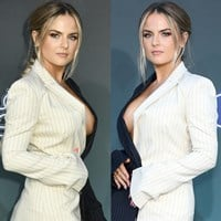 JoJo Levesque Squeezes Her Tits Together For Attention