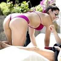 Katharine McPhee Candid Thong Bikini Pics