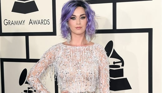 Katy Perry Wears A See Thru Dress To The Grammys-8768