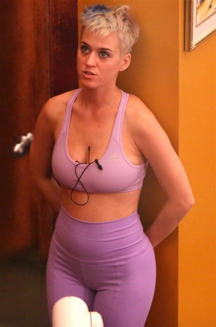 Katy Perry Practicing Slut Yoga