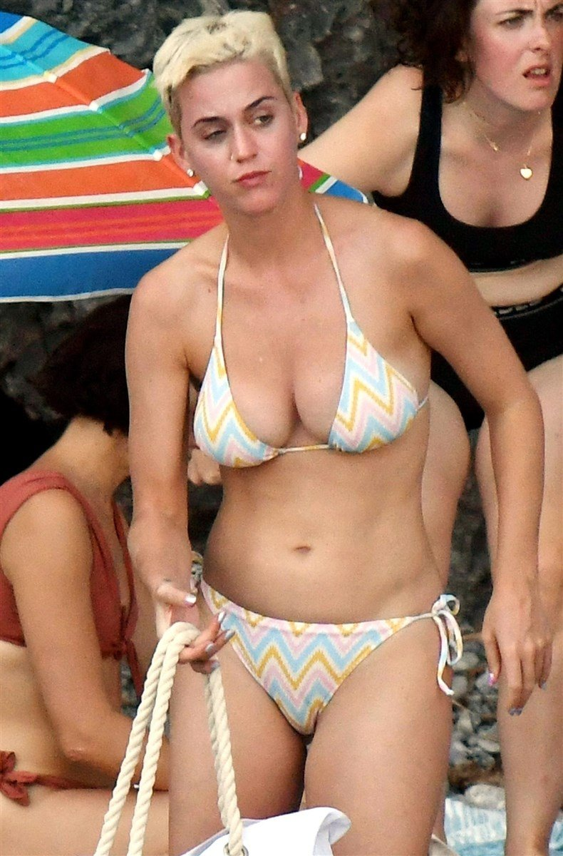Katy Perry Caught Masturbating On The Beach In A Bikini