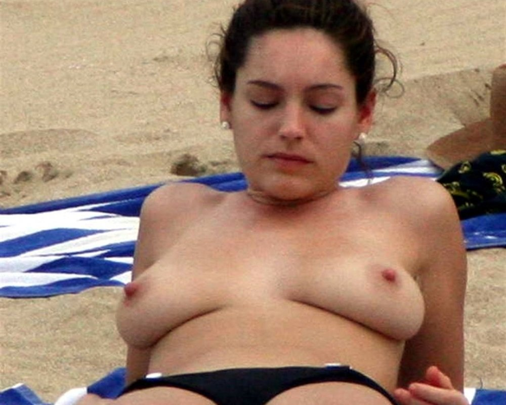 Kelly Brook Topless On A Nude Beach-9705