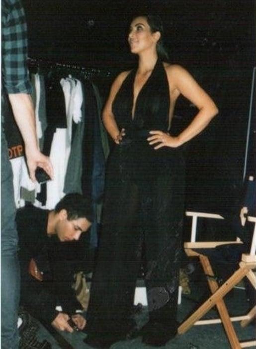 Kim Kardashian Topless Behind-The-Scenes Photos Leaked