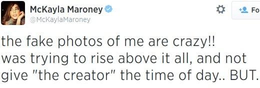 McKayla Maroney denial