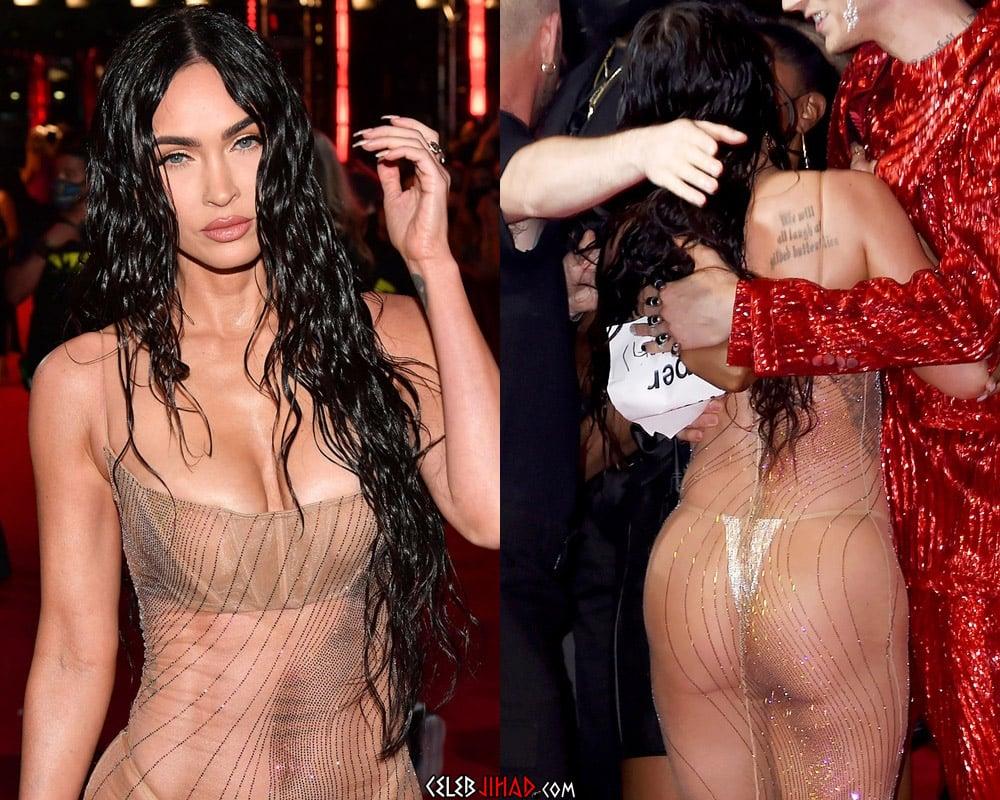 Megan Fox Moist Tits And Ass In A See Thru Dress At The VMAs