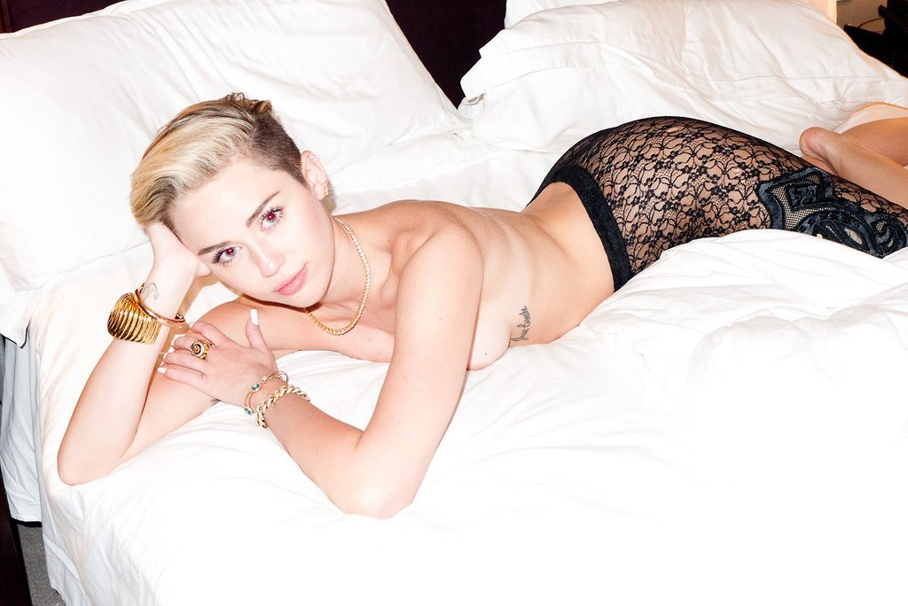Miley Cyrus Basically Nude For Terry Richardson