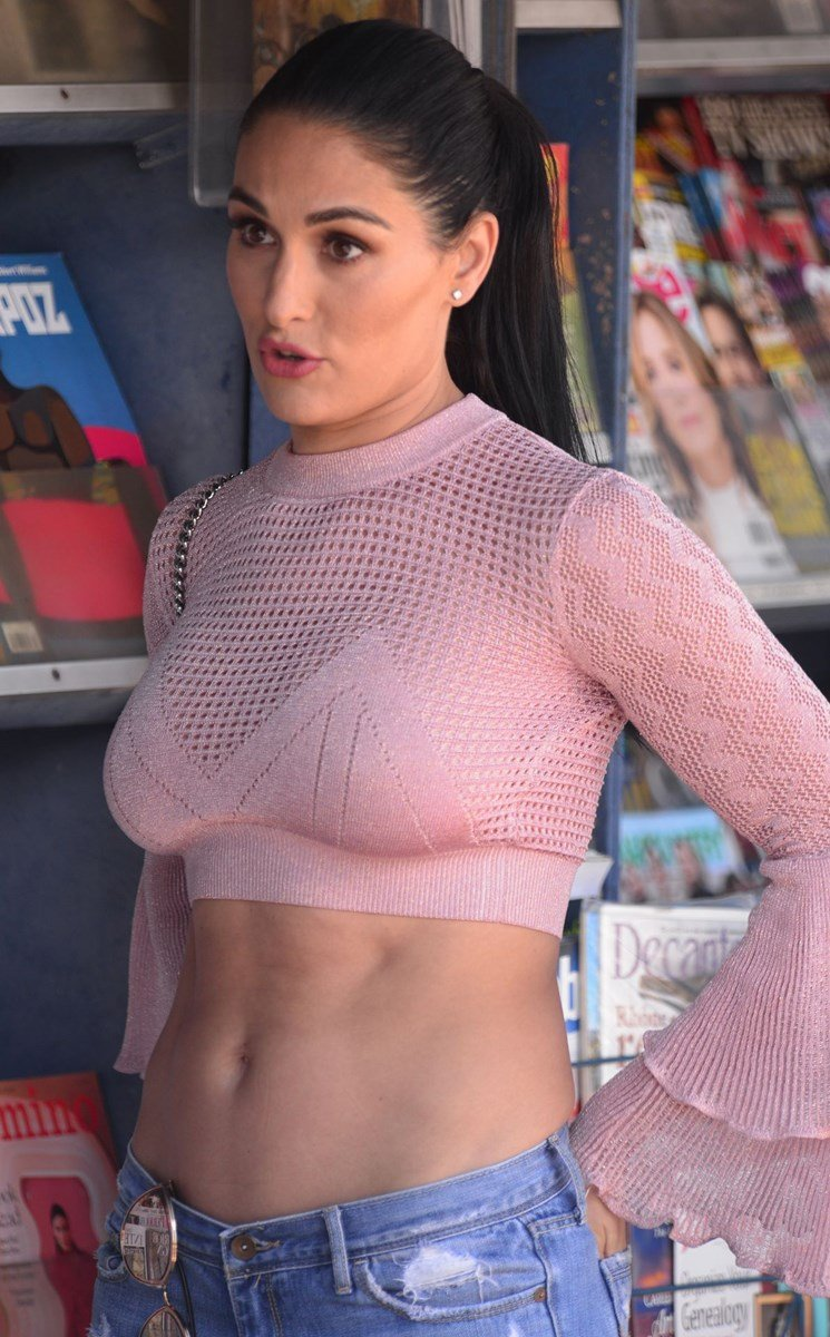 Nikki Bella Side Boob And Whale Tail Thong Pics