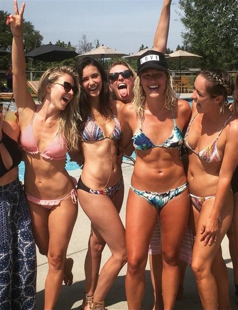 Julianne hough kicks off bachelorette party weekend see her bikini body