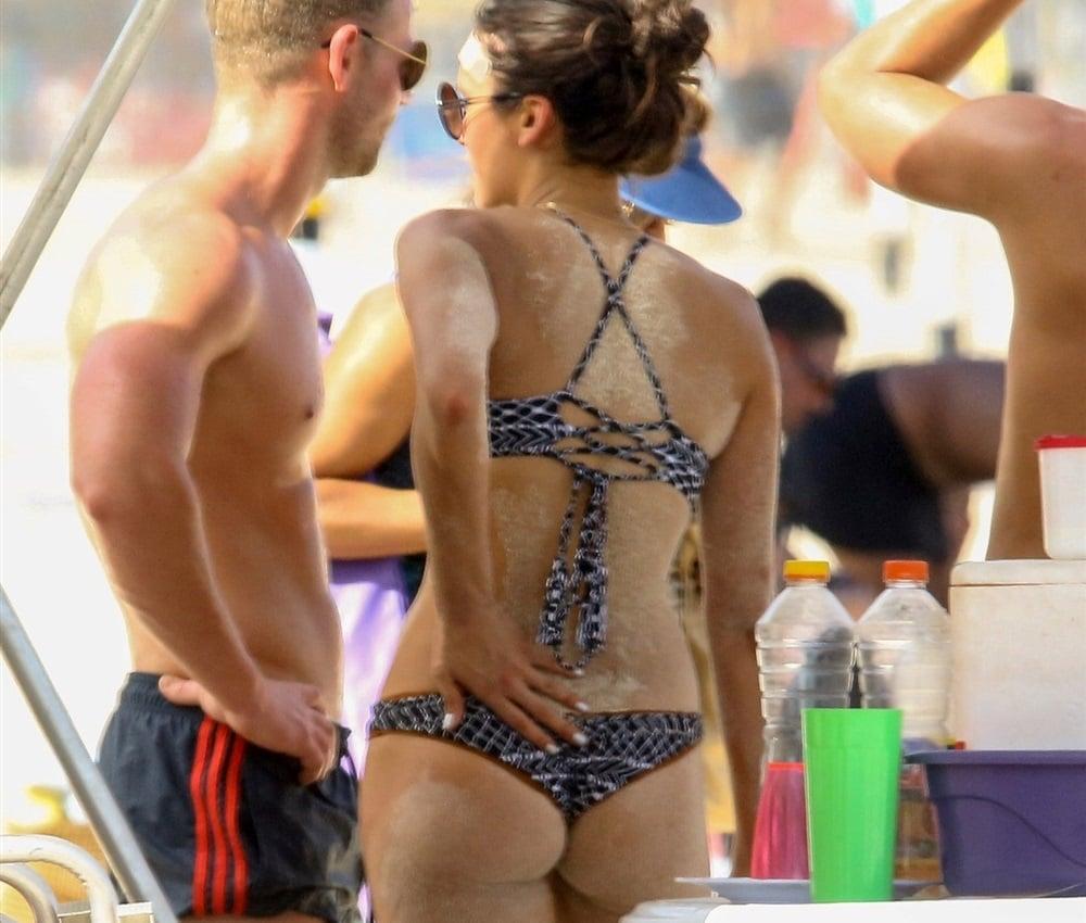 Nina Dobrev Thong Bikini Vacation Pics