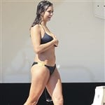 Nina Dobrev Looking Thick In A Bikini
