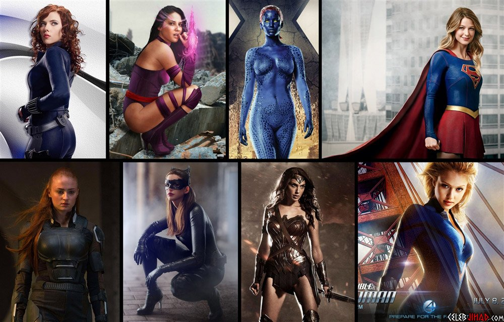 Sexy female superheroes pussy girls