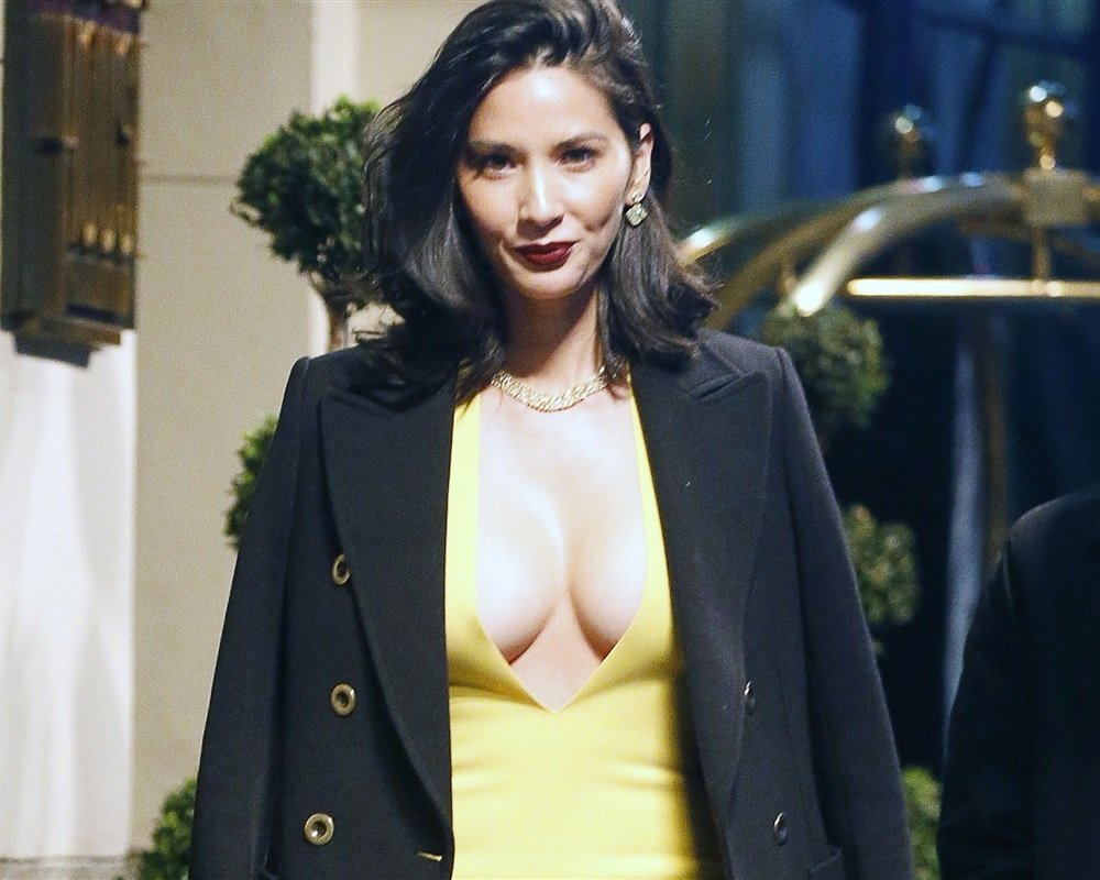 Olivia Munn Takes Her Tits Out In Support Of The Green Bay Packers