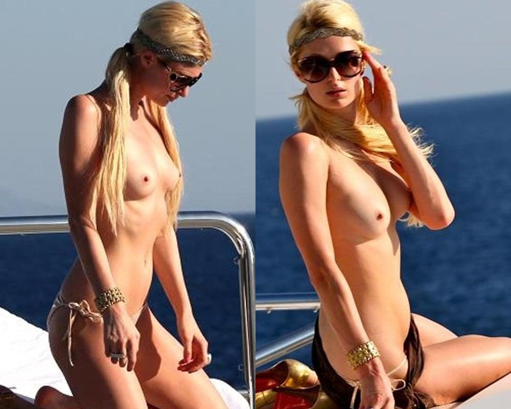 Paris Hilton Topless Nude Sunbathing-7628