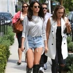 Selena Gomez In Short Shorts And Hooker Boots