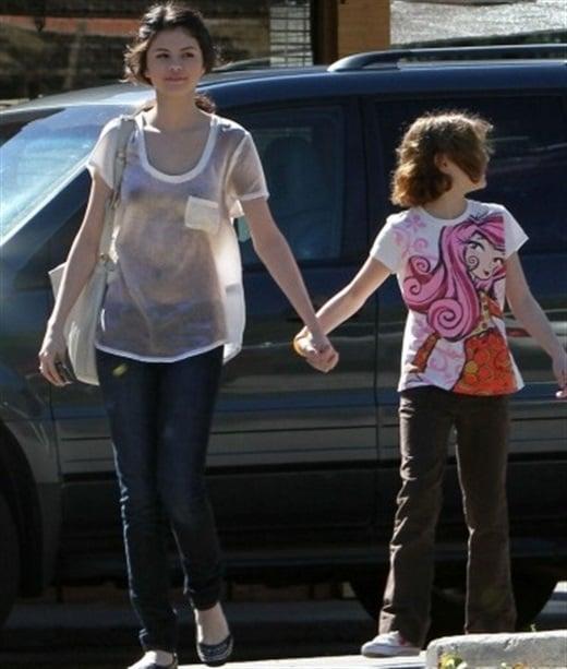 Selena Gomez see through