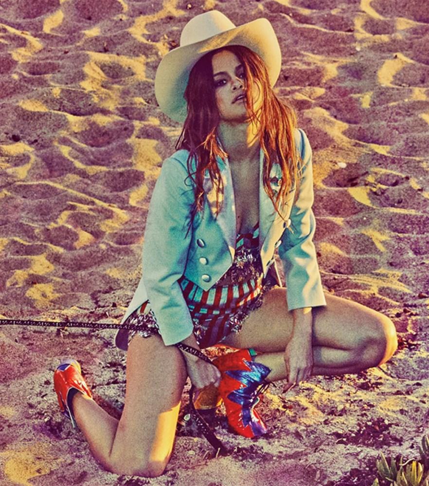 Selena Gomez Druggie Cowgirl Bikini Photo Shoot