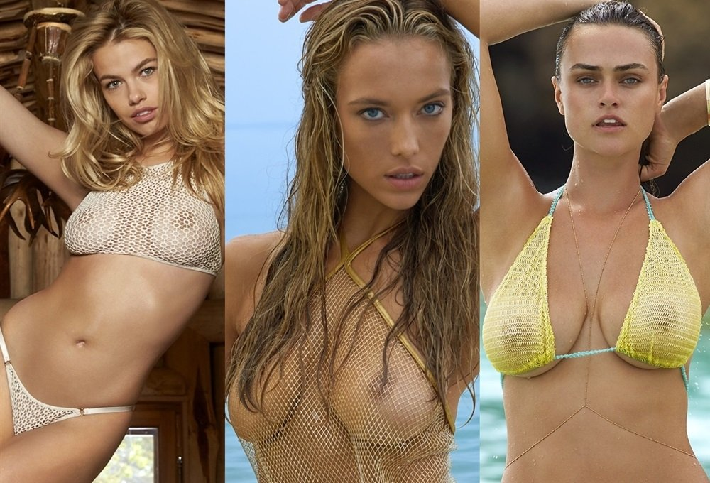 Female swimsuit models nude