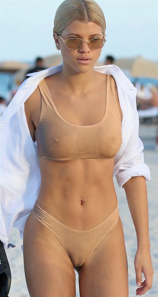 Sofia Richie Pussy Lips, Nips, And Ass Candid Bikini Pics