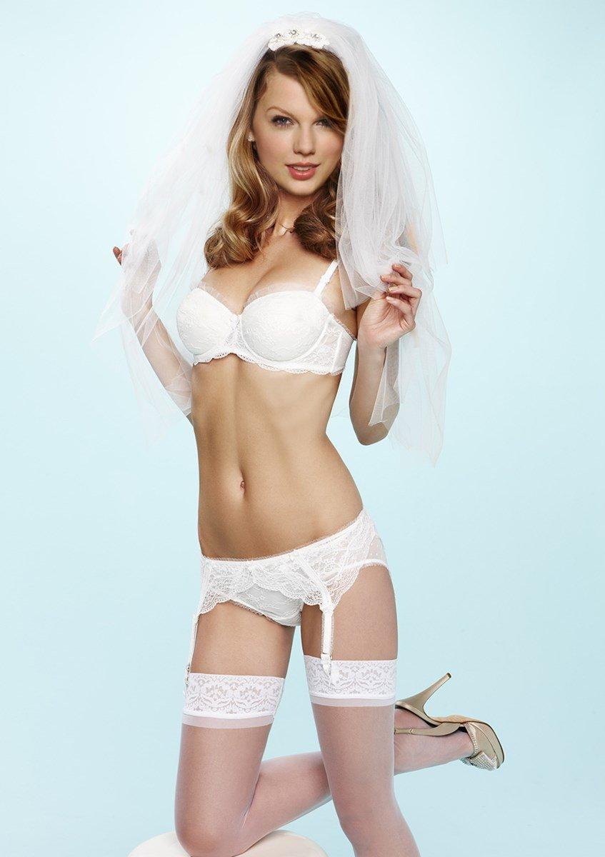 Taylor Swift Modeling Lingerie